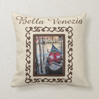 Cojín Decorativo Recuerdo de Italia de la góndola de Bella Venezia