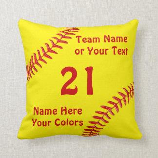 Cojín Decorativo Regalos personalizados del equipo del softball,