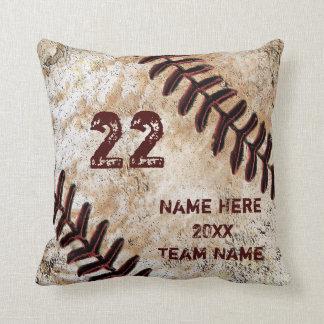Cojín Decorativo Regalos personalizados Grunge del béisbol para los