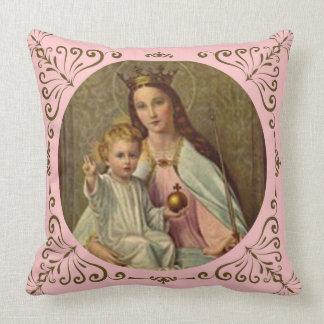 Cojín Decorativo Reina coronada del cielo Jesús infantil que