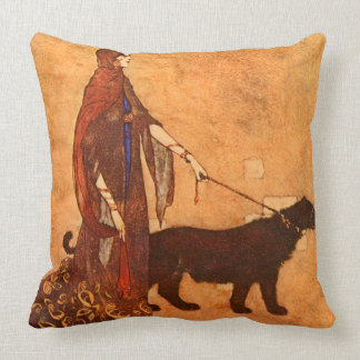 Cojín Decorativo Reina de la bella arte de Edmund Dulac de las