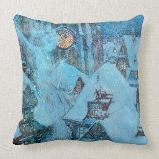 Cojín Decorativo Reina de la nieve en la bella arte de Dulac de la