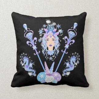 Cojín Decorativo Reina de la sirena con los Seahorses y los