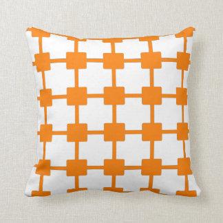 Cojín Decorativo Rejilla anaranjada brillante retra