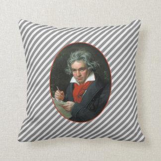 Cojín Decorativo Reversible del vintage del retrato de Beethoven