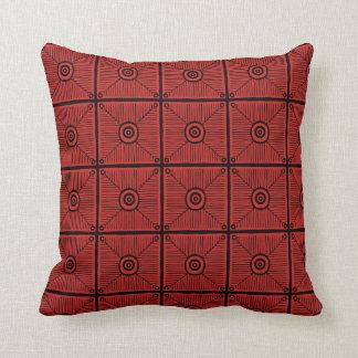 Cojín Decorativo Reversible tribal rojo y negro del modelo