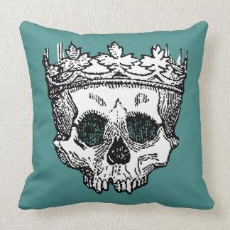 Cojín Decorativo Rey Crowned esquelética del revestimiento