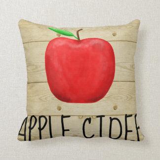 Cojín Decorativo Rojo Apple de la sidra de Apple