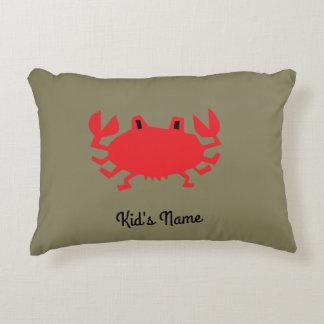 Cojín Decorativo Rojo del cangrejo del mar