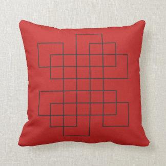 Cojín Decorativo Rojo del laberinto