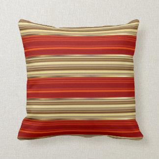 Cojín Decorativo Rojo y rayas metálicas del Pin del oro