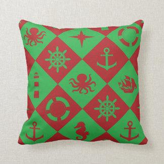 Cojín Decorativo Rojo y verde náuticos