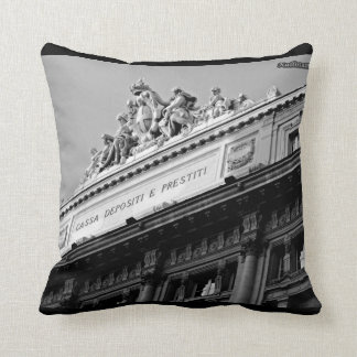 Cojín Decorativo ¡Roma para siempre! ¡Blanco y negro!