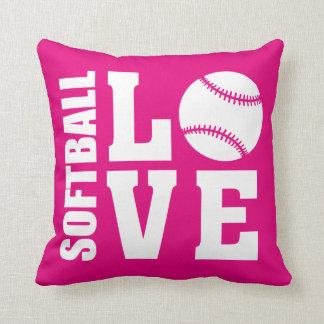Cojín Decorativo Rosa del amor del softball