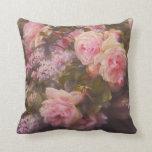 Cojín Decorativo Rosas de época y Lilacs