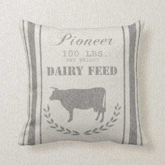 Cojín Decorativo Saco del grano de alimentación de la lechería