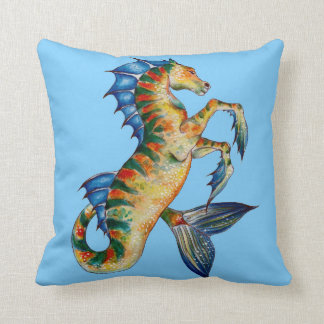 Cojín Decorativo Seahorse en azul
