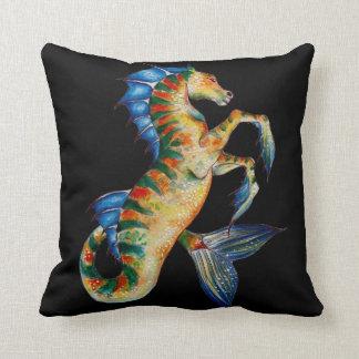 Cojín Decorativo seahorse en negro