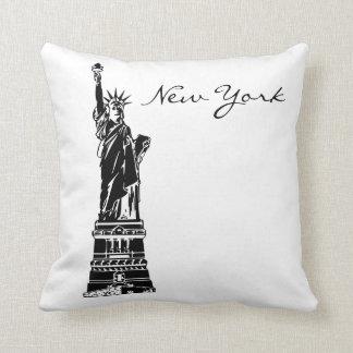 Cojín Decorativo Señal blanco y negro de Nueva York