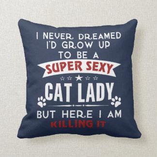 Cojín Decorativo Señora del gato