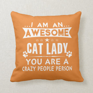 Cojín Decorativo Señora impresionante del gato