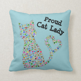 Cojín Decorativo Señora orgullosa del gato