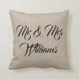 Cojín Decorativo Señora rústica y señora Pillow