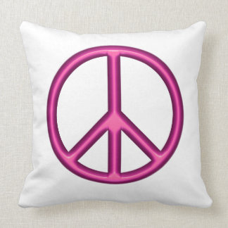 Cojín Decorativo Signo de la paz rosado