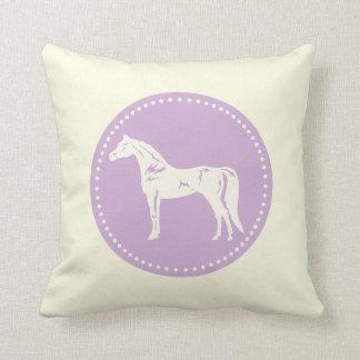 Cojín Decorativo Silueta árabe del caballo