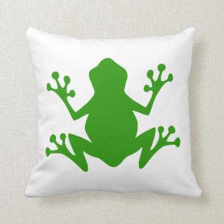 Cojín Decorativo Silueta de la rana verde