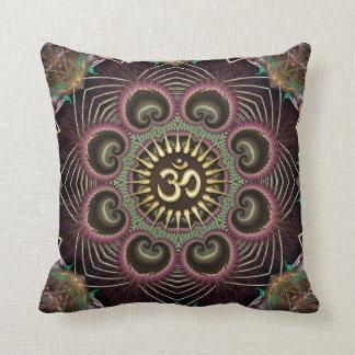 Cojín Decorativo Símbolo de OM de la mandala de la energía del