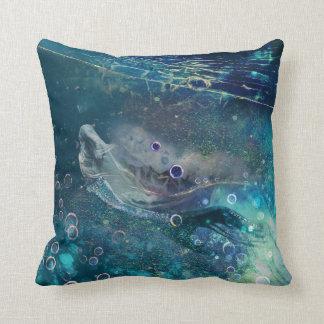 Cojín Decorativo Sirena subacuática de la mística del añil