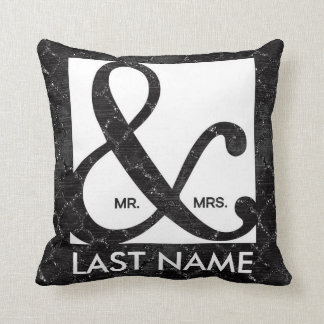 Cojín Decorativo Sr. y señora Ampersand Black Glitter Pillow