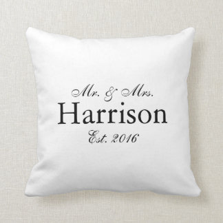Cojín Decorativo Sr. y señora Personalized Wedding Pillow2