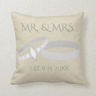 Cojín Decorativo Sr. y señora reserva de los anillos el | de la