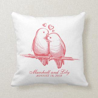 Cojín Decorativo Tarjeta del día de San Valentín dulce de los
