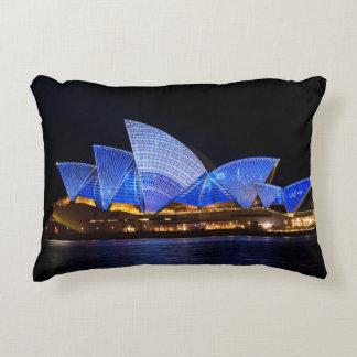 Cojín Decorativo Teatro de la ópera de Australia Sydney en la noche