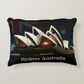 Cojín Decorativo Teatro de la ópera de Sydney en la noche