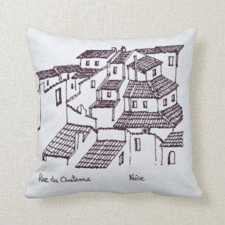 Cojín Decorativo Tejados de Rue de Chateaux el   Niza, Francia