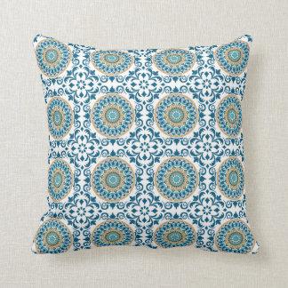 Cojín Decorativo Tejas de mosaico azules
