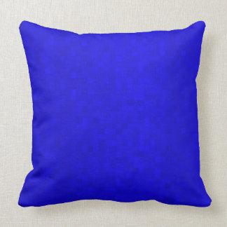 Cojín Decorativo Tejas de mosaico azules calientes, amortiguador