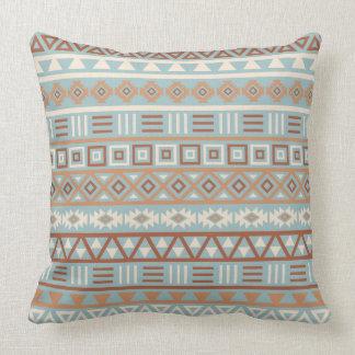 Cojín Decorativo Terracota poner crema azul del modelo azteca de la