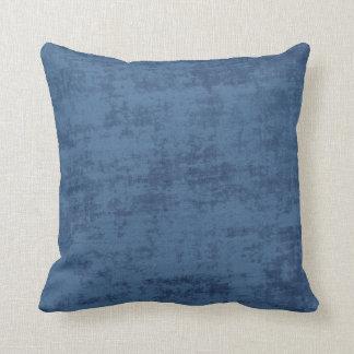 Cojín Decorativo Textura azul marino de la tela de felpilla