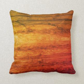Cojín Decorativo Textura de madera anaranjada