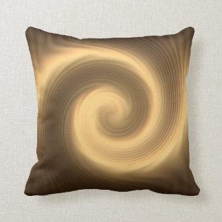 Cojín Decorativo Textura espiral de oro