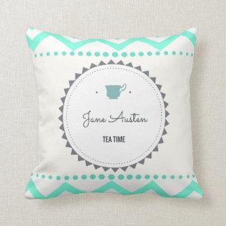 Cojín Decorativo Tiempo del té de Jane Austen