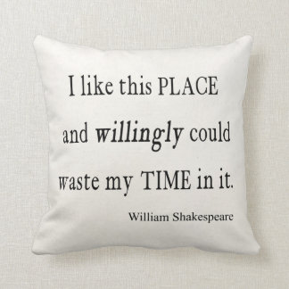 Cojín Decorativo Tiempo dispuesto inútil esta cita de Shakespeare