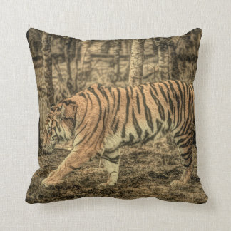 Cojín Decorativo Tigre salvaje majestuoso de la fauna despredadora