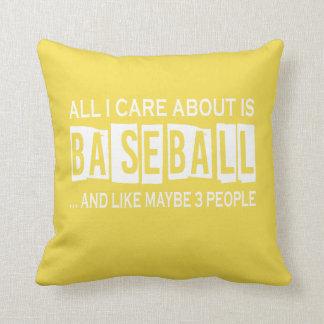 Cojín Decorativo Todo cuidado de I es alrededor béisbol