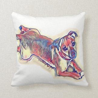 Cojín Decorativo Todo el terrier de Jack Russell del moreno